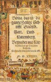Title Page, 1534 Martin Luther Bible