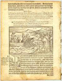 Page from a Tyndale 1552 with woodcut